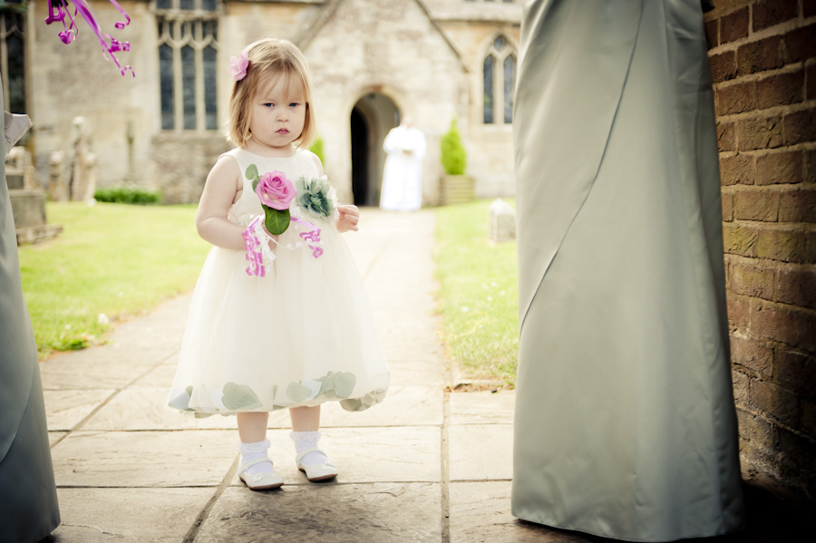 Eastington Church cute bridesmaid
