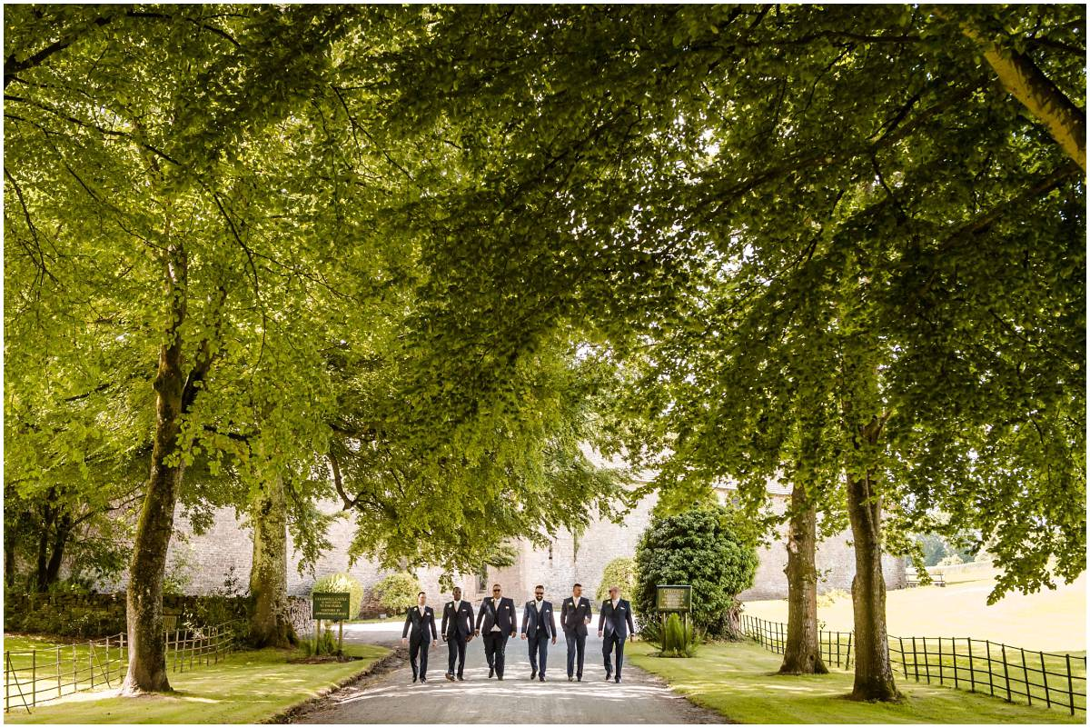Clearwell Castle wedding - Groom and Groomsmen