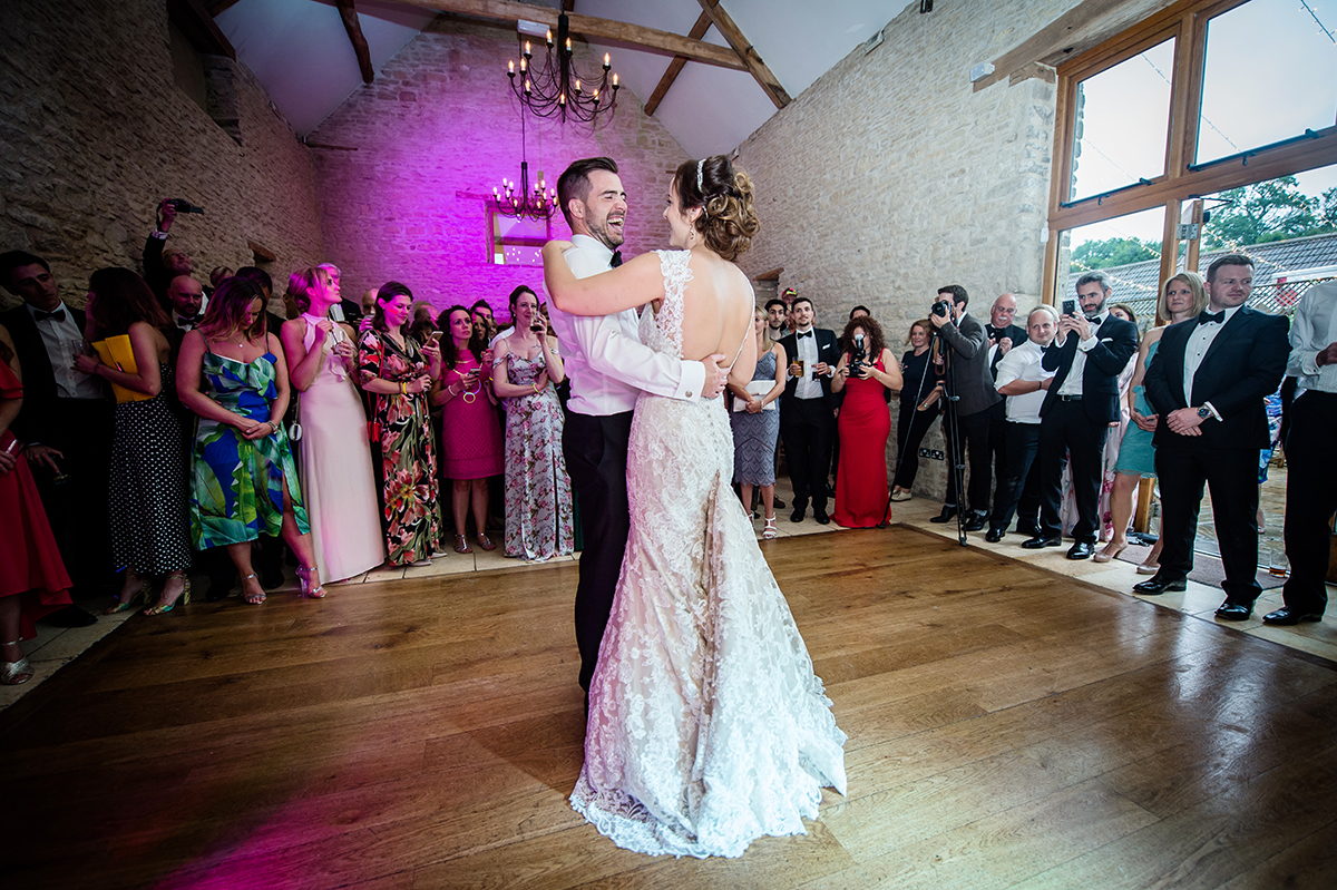 First dance at Kingscote Barn