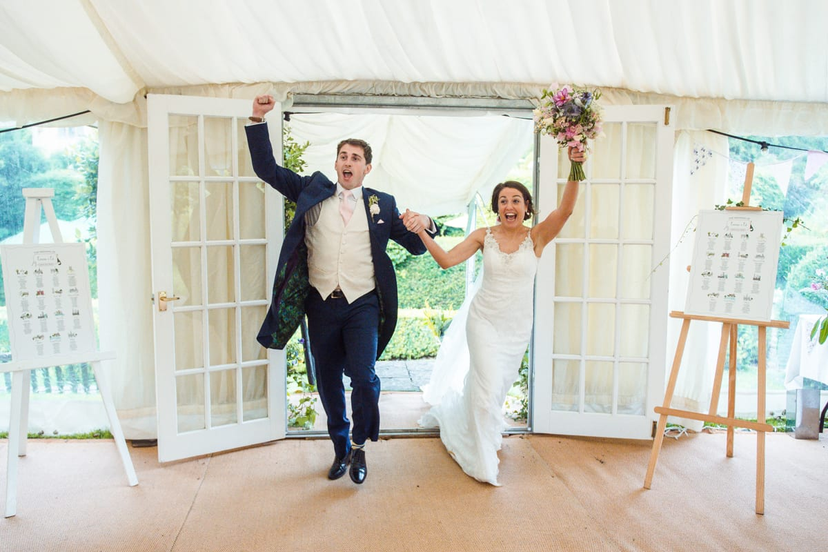 Wedding fun at Owlpen Manor